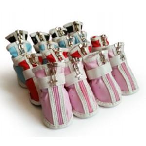 Цветные ботинки демисезонные для собак
