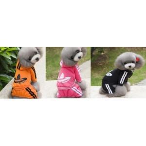 Спортивный яркий костюм с эмблемой для собак