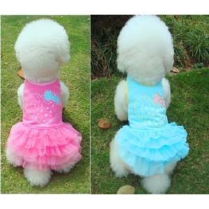 Платье нарядное с сердечком со стразами - для собак или кошек