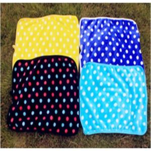 Одеяло(плед) меховое яркое в горошек, для собаки или кошки