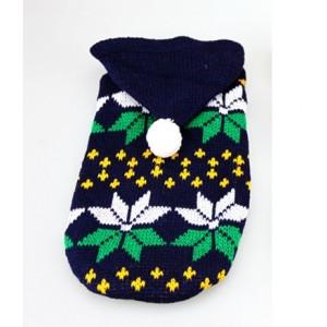 Свитер со снежинками с капюшоном, для собак или кошек