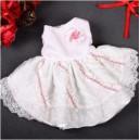 Платье нарядное розовое ажурное для собак и кошек
