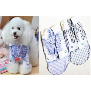 Рубашка белая в полоску для собак