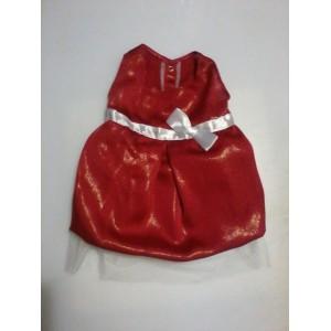 Платье красное шелковое для собак