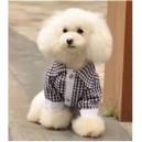 Рубашка в клетку с белыми манжетами для собак