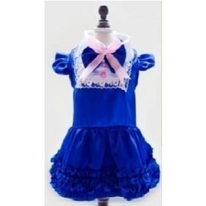 Платье синее нарядное, для собак или кошек