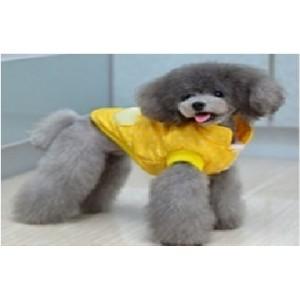 Куртка-безрукавка желтая с мехом внутри, для собак и кошек